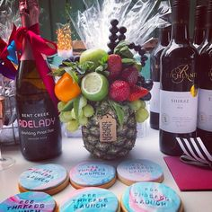 Edible arrangements for your event to match your theme. PM for details Fruit Hampers, Edible Bouquets, Edible Arrangements, Pinot Noir, Berries, Wraps, Gift Wrapping, Sweets, Lunch