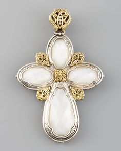 Konstantino Mother-of-Pearl Cross Enhancer
