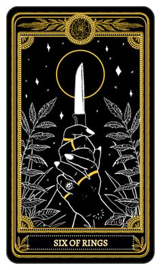 The Marigold Tarot Minor Arcana: Rings, 6-10 Amrit Brar 2017 #tarotcards