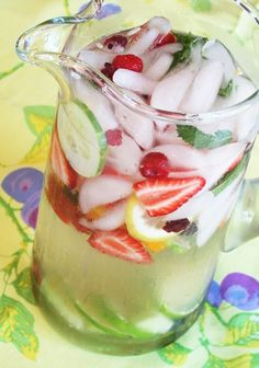 fruit water! Yum!! easy way to increase water intake!