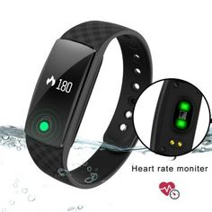 DENISY Fitness Trackers Wireless Activity Smart Bracelet with Heart Rate Monitors for IOS Android Activity Watch Wristband. – Health and Fitness Android Activity, Best Fitness Tracker, Fitness Gadgets, Android Watch, Handmade Leather Wallet, Fitness Bracelet, Smart Bracelet, Fitness Watch, Heart Rate Monitor