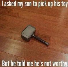 Well played, little kid, well played. #Thor #NotWorthy