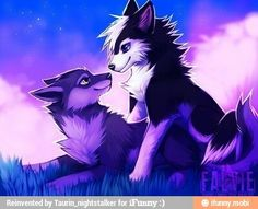 This is Celeste (purple) and Drake (black). They are apart of the Night Realm.
