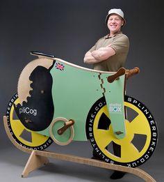 деревянный велосипед Splinterbike Quantum британца Майкла Томпсона