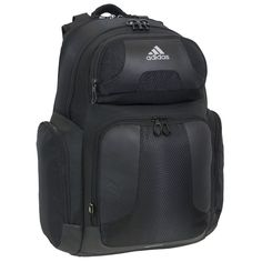 adidas Climacool Strength Backpack, Black, 19 3/4 x 13 3/4 x 9-Inch. Pockets: 1 interior slip, 1 interior zip, 4 exterior.