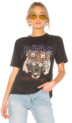 ANINE BING Tiger Tee in Black | REVOLVE