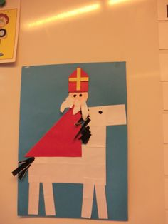 Horse folding from large white folding sheet, here an piece with a border off. St Nicholas Day, Baby Elefant, Saint Nicolas, Activities For Boys, Preschool Christmas, Large White, Holidays And Events, Saints, Arts And Crafts