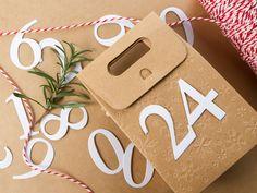 Adventskalender Zahlen 1-24 Stanzteile / Weihnachten / Karton / Papier - weiß | eBay