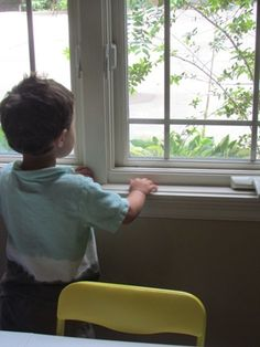 There is something about having windows in a preschool environment. In almost every classroom I go into, I find a child looking out the window. I sometimes notice that teachers cover their windows with lots of artwork which can be quite beautiful but I Cafe Wall, Looking Out The Window, Open Window, Screens, Natural Light, Preschool, Waiting, Old Things, Childhood