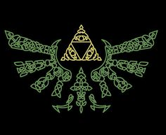 I foresee an epic pattern inspired by this. (Celtic Triforce by Fuzzypop)
