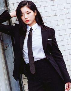 Dahyun [♡] Twice Nayeon, South Korean Girls, Korean Girl Groups, Twice Dahyun, Twice Kpop, Pretty Asian, Fandoms, Suit And Tie, Suits For Women