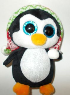 2acff144852 Ty Beanie Babies 37239 Boos Penelope the Christmas Penguin New Tags Green  Toque