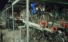 Estacionamiento bicis. Munich, Alemania.