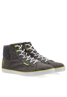 Add some swag to your closet with the trendy Cardiff high top sneakers from Jack & Jones. Pair with denims and tee for a casual look. Available via www.namshi.com