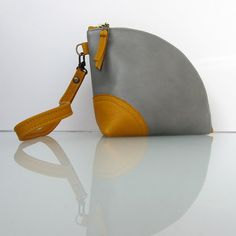 Custom listing Two Leather Q-bag clutches handmade by Rinarts,