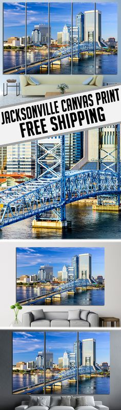 Extra large Jacksonville , FL Canvas Print Wall Art for Home & Office decoration.