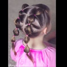 Children's Hairstyles Rubber Caterpillar Collection - Best New Hair Styles Little Girl Hairdos, Girls Hairdos, Baby Girl Hairstyles, Princess Hairstyles, Cute Hairstyles, Braided Hairstyles, Toddler Hairstyles, Mom Haircuts, Hairstyle Photos