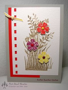 Stampin' Up! Just Believe with flowers from Secret Garden (?). Cute idea!