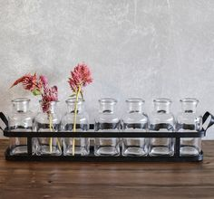 Metal Tray With Seven Bottles |Wedding Vase | Table Centerpiece