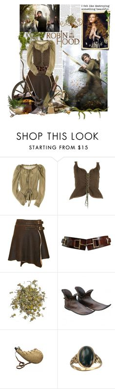 """""""Robin Hood"""" by innety ❤ liked on Polyvore featuring Moschino, Yves Saint Laurent, CÉLINE and MAC Cosmetics"""