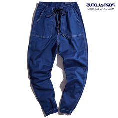 26.49$  Watch now - https://alitems.com/g/1e8d114494b01f4c715516525dc3e8/?i=5&ulp=https%3A%2F%2Fwww.aliexpress.com%2Fitem%2FPORT-LOTUS-Brand-Jeans-Men-100-Cotton-Harem-Pants-Mens-Haren-Jeans-Long-Men-s-Clothing%2F32757328767.html - PORT&LOTUS Brand Jeans Men 100% Cotton Harem Pants Mens Haren Jeans Long Men's Clothing 2 Colors YP010 5088