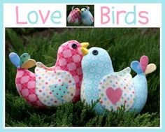 LOVE BIRDS SOFTIE SOFT TOY MELLY & ME PATTERN SEWING CRAFT - $17.50 : PatternsOnly, Patterns for Quilting, Patchwork, Handbags, Soft Toys,Clothing and More