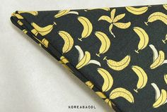 Banana Fabric Banana Pattern 44x35 100% Cotton 30s by KoreaBacol