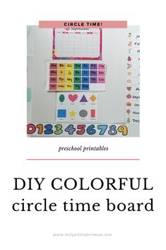 Liven up your preschool circle time board with these adorable colorful circle time board printables. Your preschooler will be SO excited to learn! Parenting Quotes, Parenting Advice, Circle Time Board, Guilt Quotes, Stem For Kids, Organized Mom, Preschool At Home, Preschool Printables, Letter Recognition