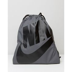 2b859b77e94f Nike Heritage Drawstring Backpack In Grey BA5351-009 ( 20) ❤ liked on  Polyvore