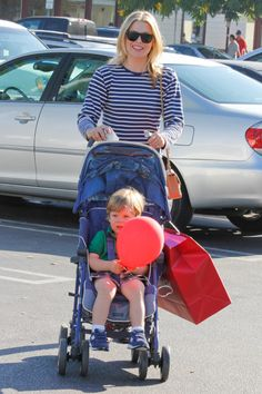 Ali Larter and Theodore spend some mother-son time