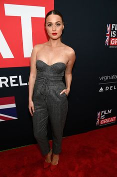 Camilla Luddington attends the Great British Film Reception honoring the British nominees of The 90th Annual Academy Awards.