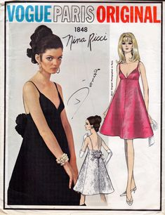 60s Vogue Paris Original Sewing Pattern by allthepreciousthings, $95.00
