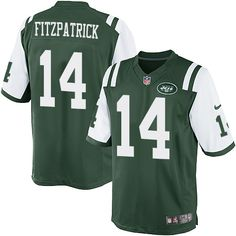 a2f2acf50 ... NFL New York Jets Ryan Fitzpatrick Youth Limited Green 14 Jerseys Women  Nike ...