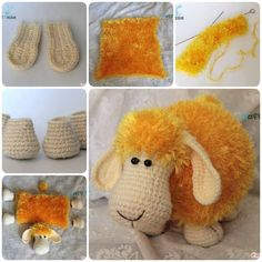 Adorable Crochet or Knitted Lamb Pillow