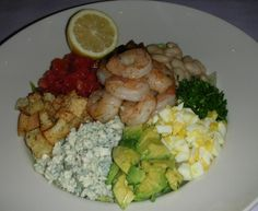 just when we thought a cobb salad couldn't get any better, our chefs add shrimp!