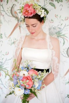 Wear a Mantilla and flower crown on Your Wedding Day  http://www.wantthatwedding.co.uk/2013/11/05/how-to-wear-a-mantilla-veil-on-your-wedding-day/