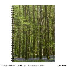 """""""Forest Flowers"""" - Customizable Notebook Forest Flowers, Wonderful Images, Notebook, Artist, Products, Artists, The Notebook, Gadget, Exercise Book"""