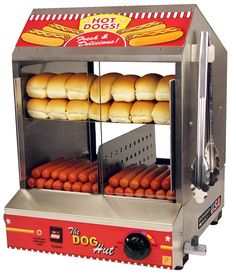 Hot Dog Steamer - $40 rental The Hot Dog Hut will hold up to 200 hot dogs and 42 buns! Great for feeding a crowd! Use pre-cooked hot dogs and allow 15-30 min to steam and warm up. houston rentals, concession rentals, fall festival, carnival party, children's birthday party ideas