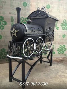 Одноклассники Bbq Smoker Trailer, Bbq Pit Smoker, Fire Pit Bbq, Cool Fire Pits, Diy Fire Pit, Bbq Grill, Metal Projects, Metal Crafts, Diy Wood Stove