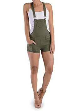 GStyle USA Womens Overall Shorts RJSO115  OLIVE  Small  T1C *** You can find out more details at the link of the image.