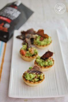 Cocinando entre Olivos: Tartaletas de aguacate, raf y Biltong. Receta paso...