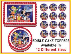 BEYBLADE Edible Cake Image Cupcake Topper by ediblepicturedesigns, $8.90