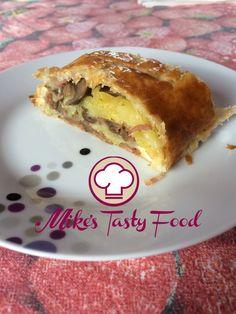 Sfoglia salata con patate, funghi, prosciutto e formaggio – Mike's Tasty Food