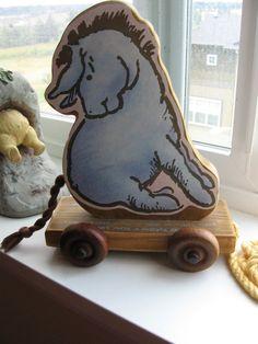Winnie the Pooh Eeyore Wood Pull Toy Nursery by luvbabycakes81, $32.00- for my future Eeyore themed nursery!