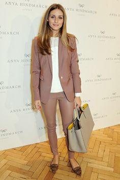 Modetrend Leder-Röhrenjeans: Olivia Palermo zeigt wie man den Look trägt