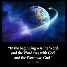 "John 1:1 KJV!! ( http://kristiann1.com/2015/04/12/j11/ ) #ShabbatShalom ""In the beginning was the Word, and the Word was with God, and the Word was God."" ✝✡Hallelujah & Shalom!! Kristi Anne✡✝"