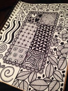 "Zen doodles Who knew this had a name? Been ""zen doodling"" since I was a kid, and didn't even know it! LOL!"