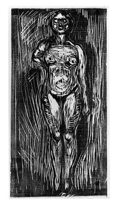 Edvard Munch - Standing Nude (c. 1915)