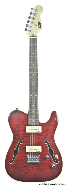 IYV Thinline Telecaster with Trans Red Cheap Guitars, Ukulele, Madness, Bass, Music Instruments, Red, Guitars, Musical Instruments, Lowes