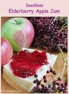 Seedless Elderberry Apple Jam